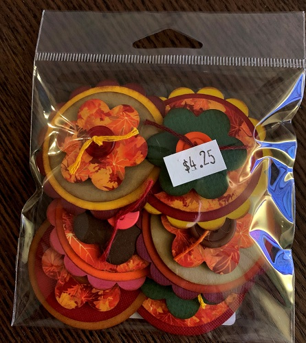 Autumn Colors  #362 Button Bitz pack of 6