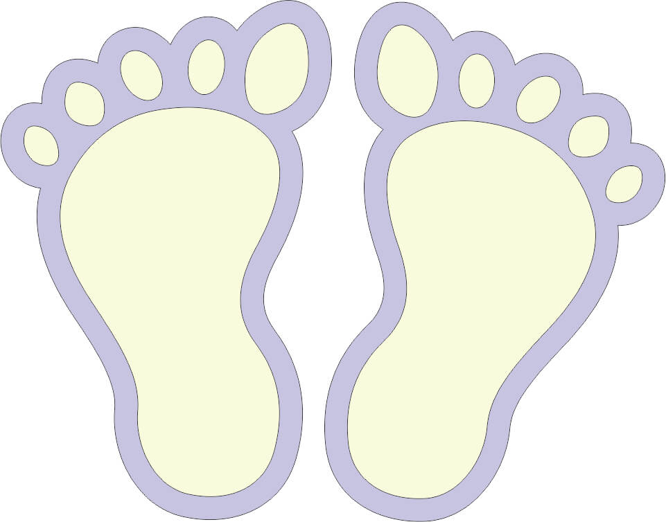 Baby Feet Set of 2 - Choice of Colors