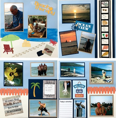 Beach Therapy 4 Page Kit