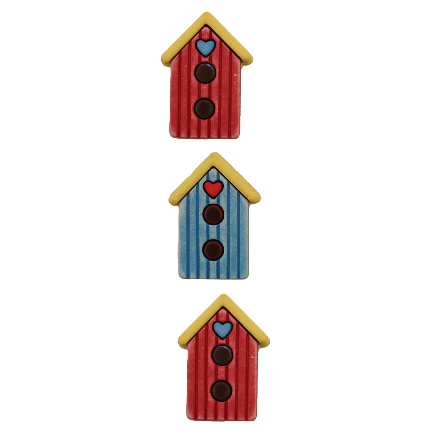 Birdhouse Buttons Galore