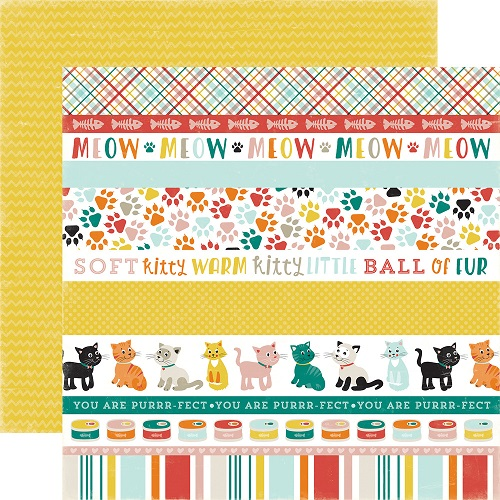 Cat Border Strips - Meow