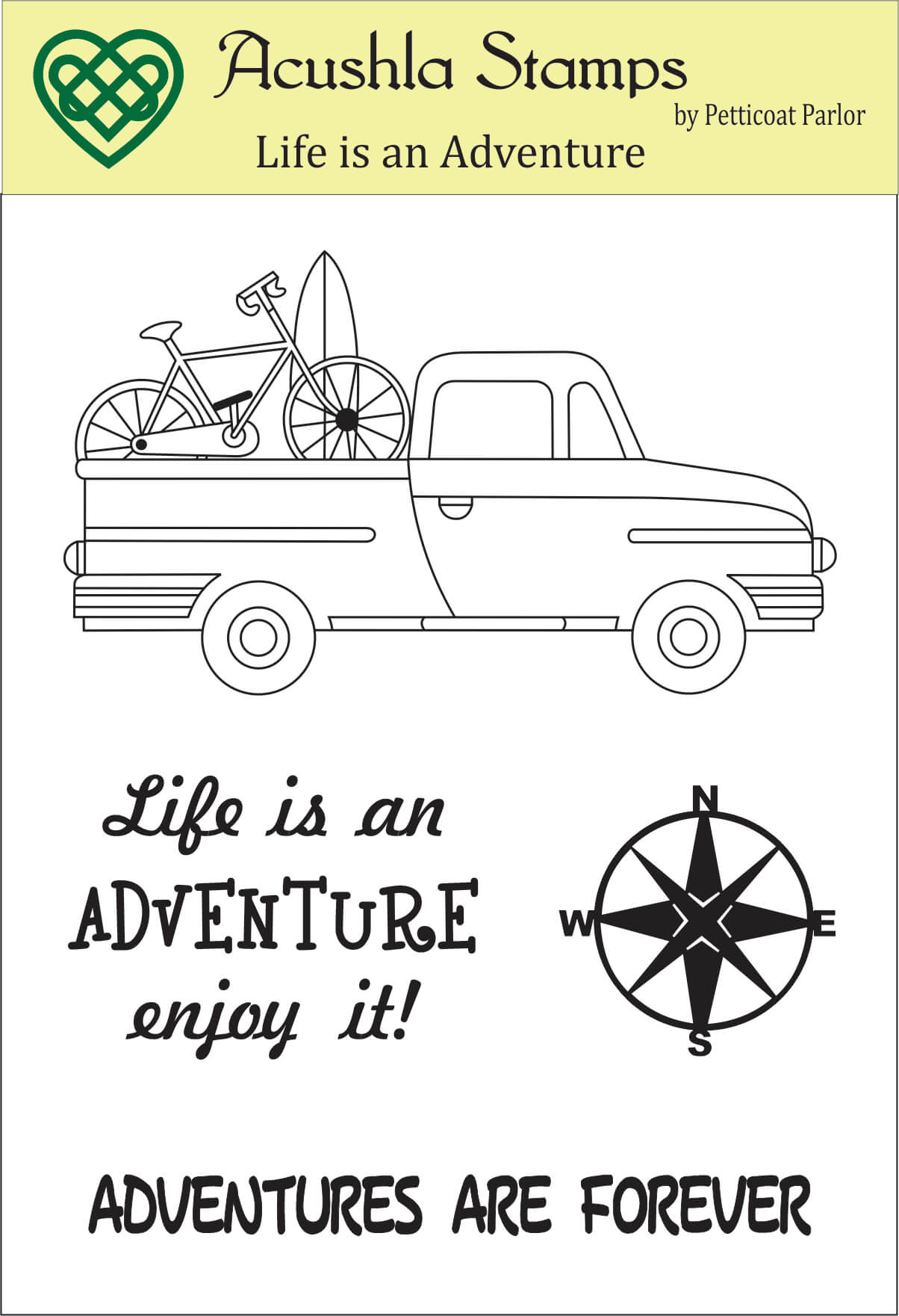 Life is an adventure Clear Stamp