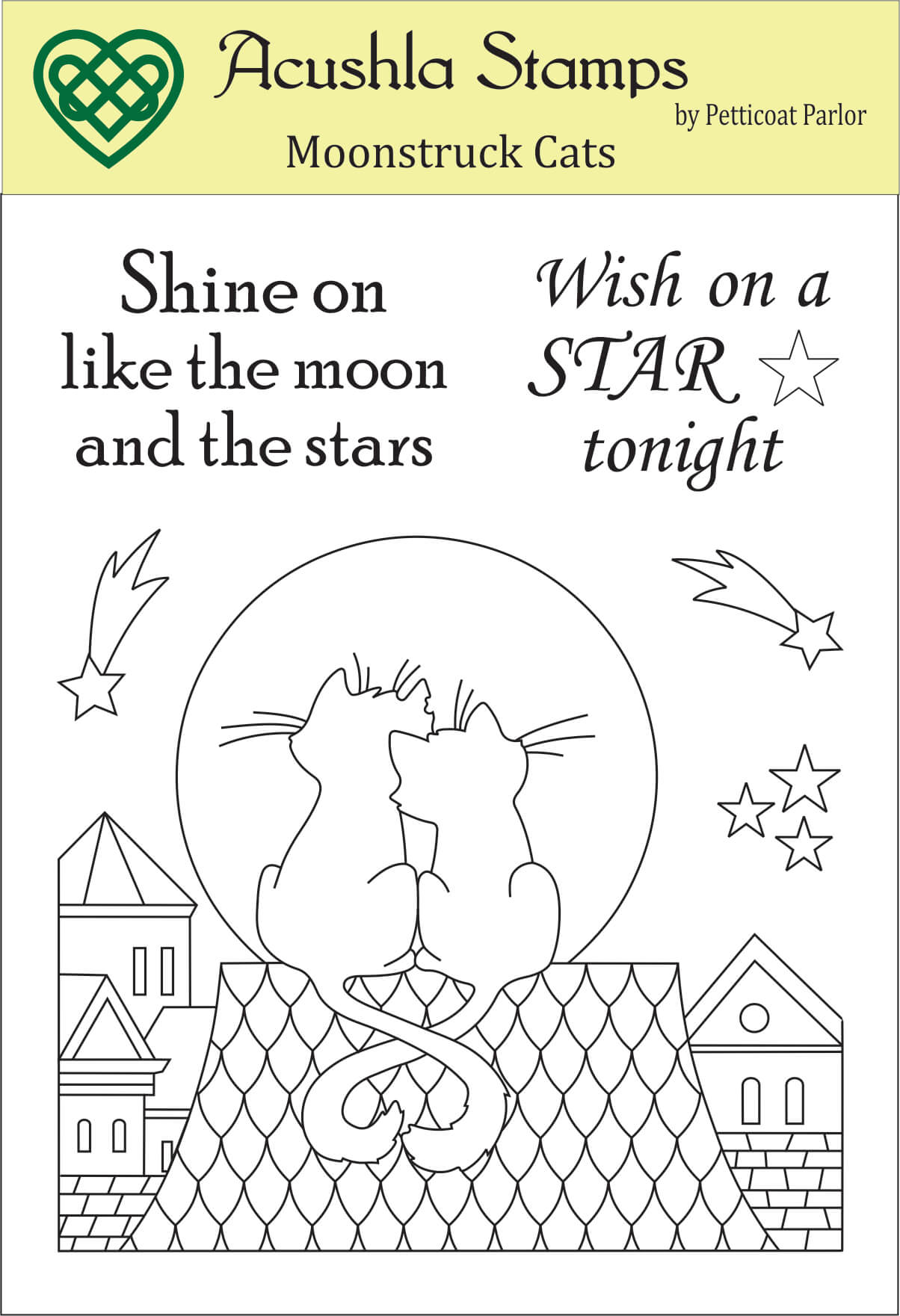 Moonstruck Cats  Clear Stamp
