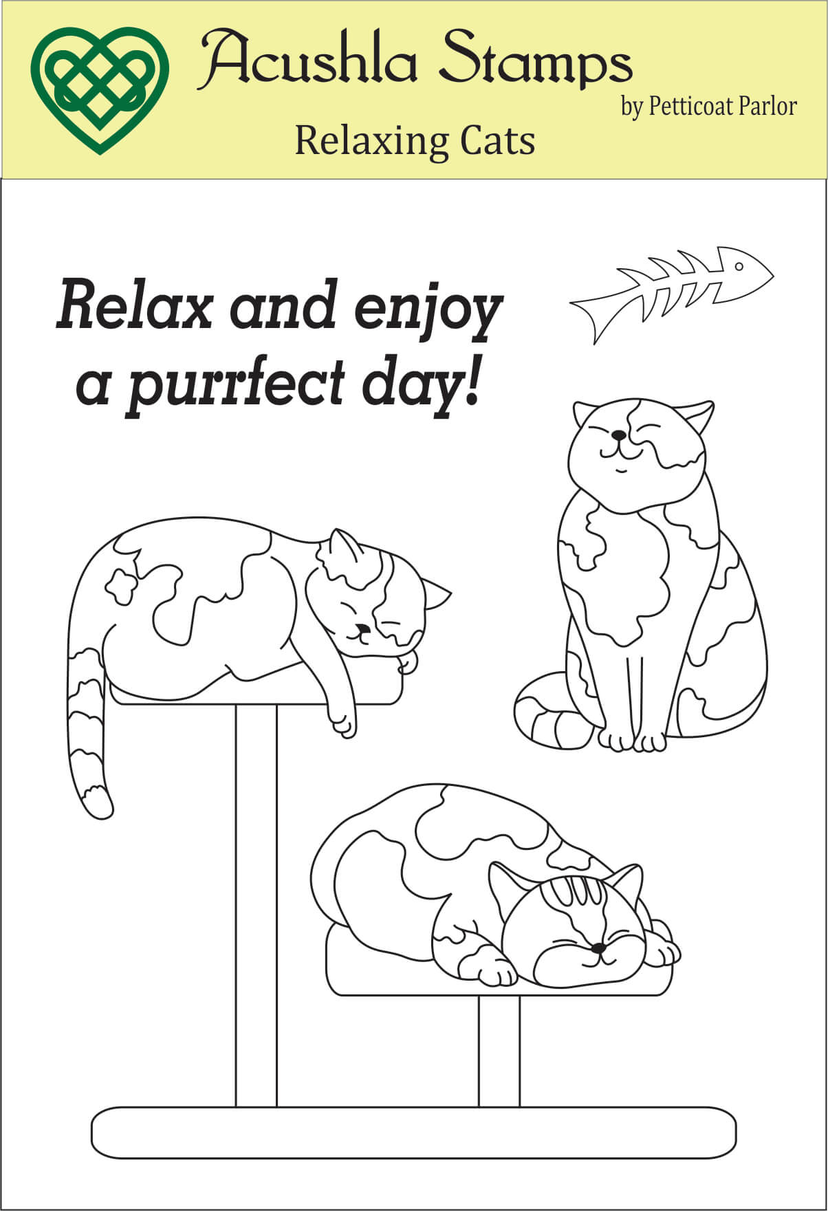 Relaxing Cats Clear Stamp