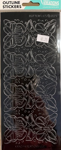 Butterflies Outline Stickers