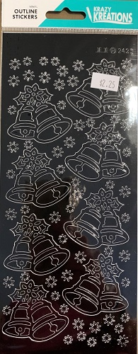 Christmas Bells Outline Stickers