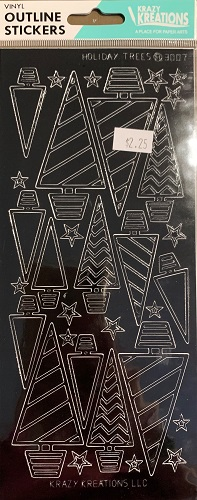 Holiday Trees Outline Stickers