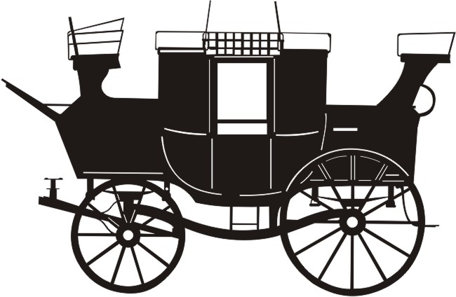 Stagecoach Silhouette