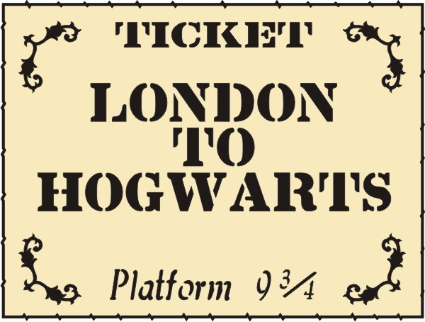 Hogwarts Platform Ticket